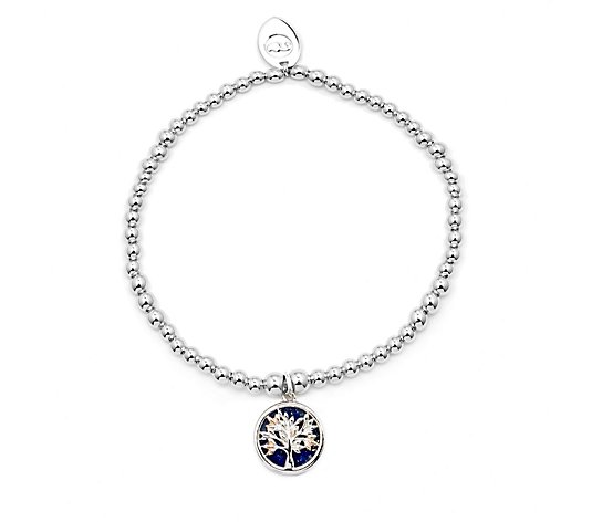 Clogau Tree of Life Beaded Stretch Bracelet Sterling Silver