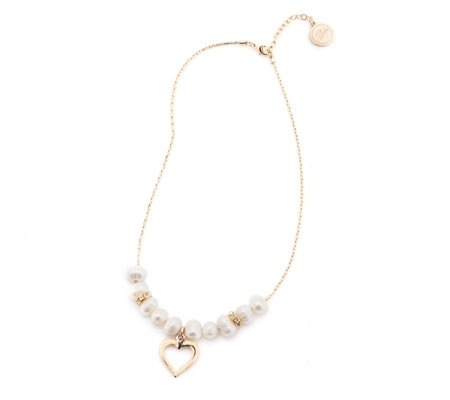 Bibi Bijoux Cultured Pearl & Heart 49cm Necklace