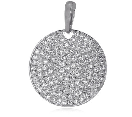K by Kelly Hoppen Capri Collection Cubic Zirconia Disc Pendant Sterling Silver