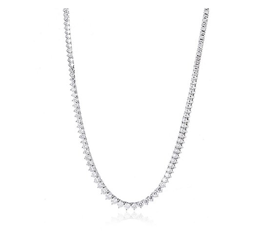 6.50ct Diamond Tennis Necklace 14ct Gold
