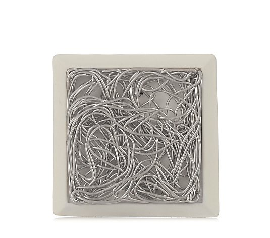 MarlaWynne Mixed Media Tangled Square Wire Brooch