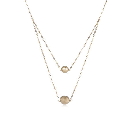 9ct Gold Double Row Layer Necklace