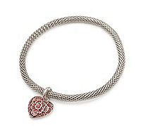 The Poppy Collection Heart Mesh Bracelet in a Box - 332738