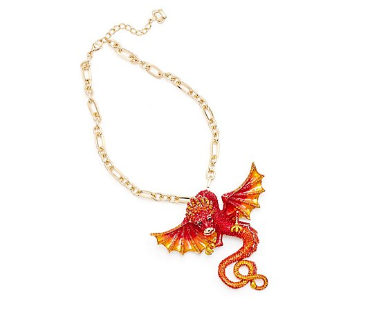 Butler & Wilson Crystal Dragon Necklace & Brooch