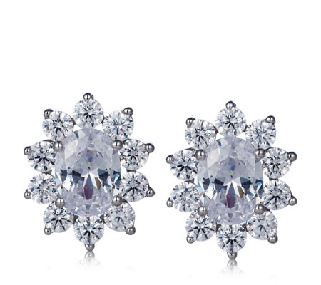 Michelle Mone for Diamonique 3.8ct tw Earrings Sterling Silver