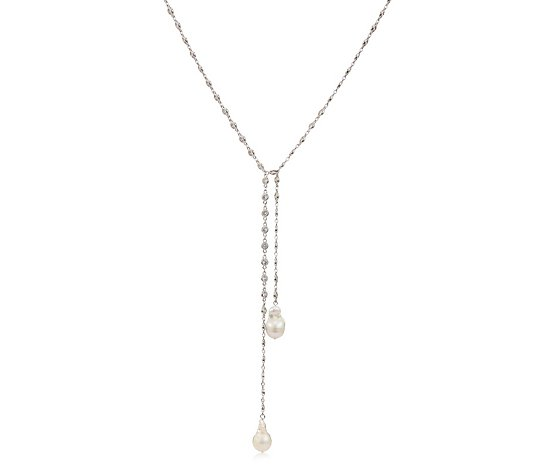 Butler & Wilson Crystal Beads and Baroque Pearls Necklace