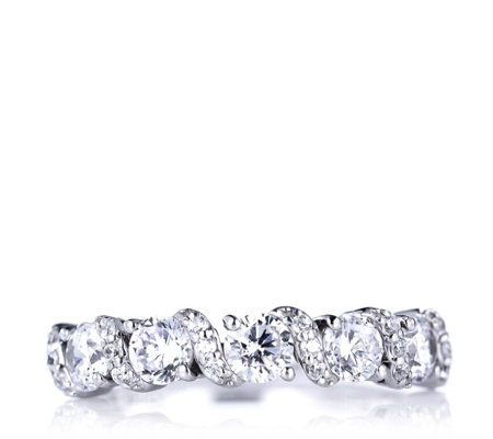 Michelle Mone for Diamonique 1.4ct tw 5 Stone Eternity Ring Sterling Silver