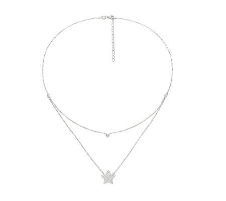 Folli Follie Fashionably Silver Starry Sky 45cm Necklace
