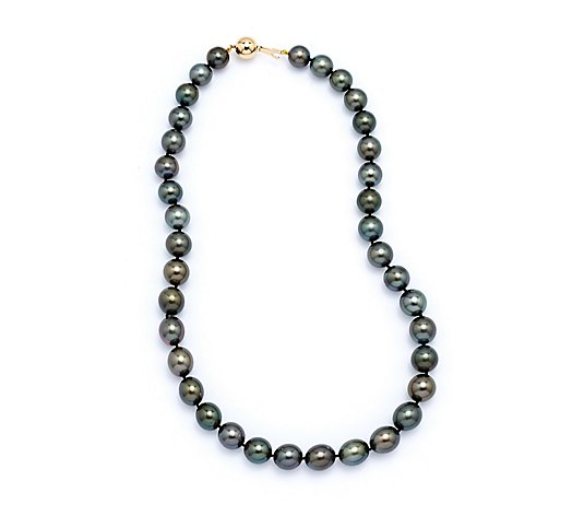 10-12mm Tahitian CFW Pearl 45cm Necklace 18ct Gold