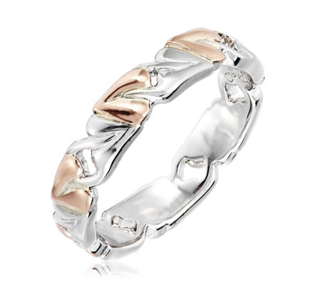 Clogau 9ct Rose Gold & Sterling Silver Tree of Life Band Ring