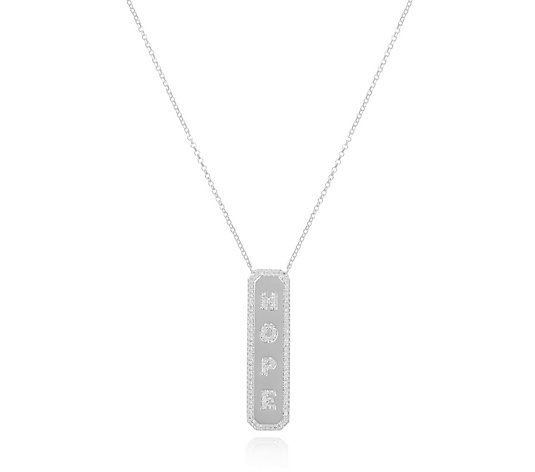 Escape by Melissa Odabash Hope Pendant & Chain Sterling Silver