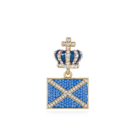 Butler & Wilson Flag & Crown Pin