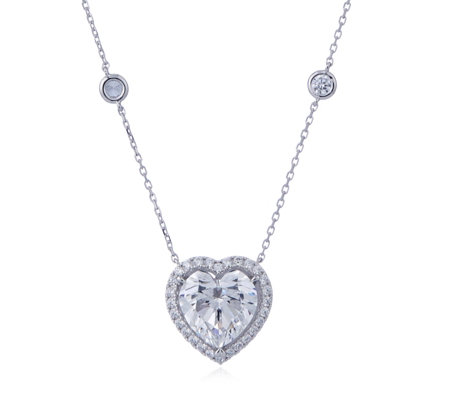 Michelle Mone for Diamonique Breast Cancer Care Pendant & Chain Sterling Silver