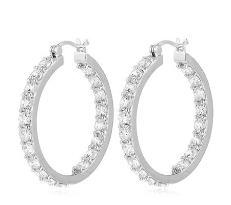 Michelle Mone for Diamonique 9.5ct tw Statement Hoop Earrings Sterling Silver