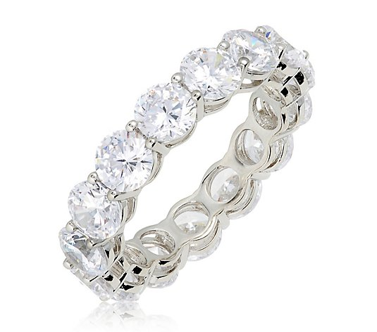 Michelle Mone for Diamonique 7.5 ct tw Platinum Plated Eternity Ring
