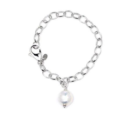 Honora 13 14mm Cultured Ming Pearl 18 5cm Bracelet Sterling Silver