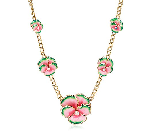 Butler & Wilson Enamel Flowers Necklace