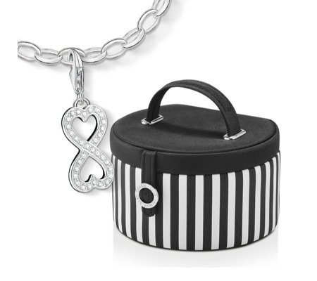 Thomas Sabo Charm Club Bracelet & Charm In Jewellery Box Sterling Silver
