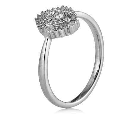 0.25ct Baguette Diamond Cluster Ring 9ct Gold