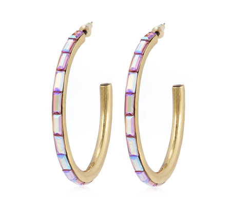 Butler & Wilson Crystal Hoop Earrings