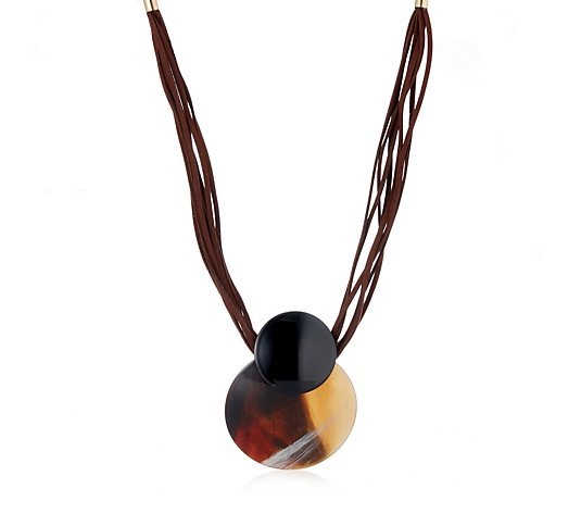 Frank Usher Circular Resin Statement Necklace