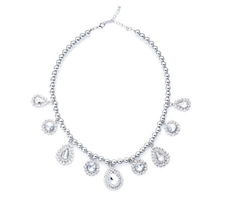 Frank Usher Graduated Crystal Drop 35cm Necklace