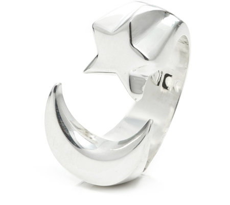 Taxco Traditions Star & Moon Ring Sterling Silver