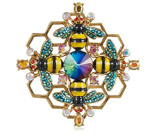 Butler & Wilson Bee Detail Crystal Brooch