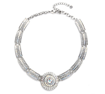 Butler & Wilson Crystal Segment & Circle 39cm Necklace