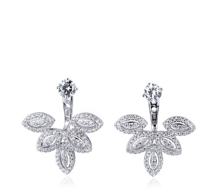 Michelle Mone for Diamonique 2ct tw Marquise Earrings Sterling Silver