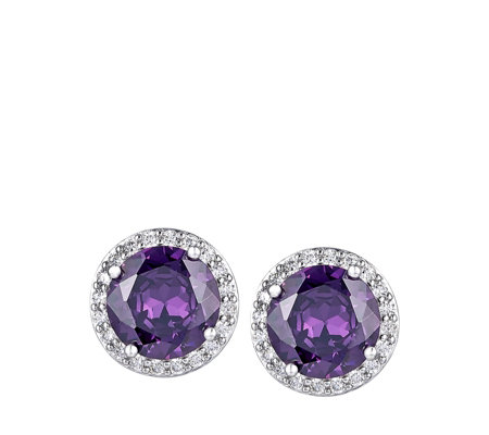 Michelle Mone for Diamonique 8ct tw Simulated Diamond Earrings Sterling Silver