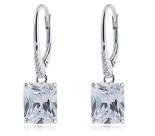 Michelle Mone for Diamonique 10ct tw Radiant Cut Earrings Sterling Silver