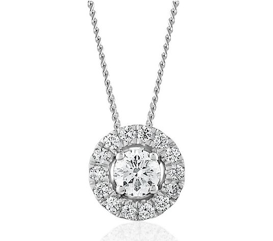 0.47ct H SI2 Fire Light Lab Grown Diamond 45cm Necklace 18ct Gold