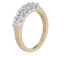 1.00ct Princess Cut Diamond 5 Stone Ring 9ct Gold - 340550