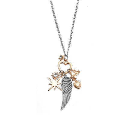 Bibi Bijoux Celestial Angel Wing Pendant 80cm Necklace