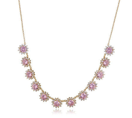 Butler & Wilson Crystal Flowers 72cm Necklace