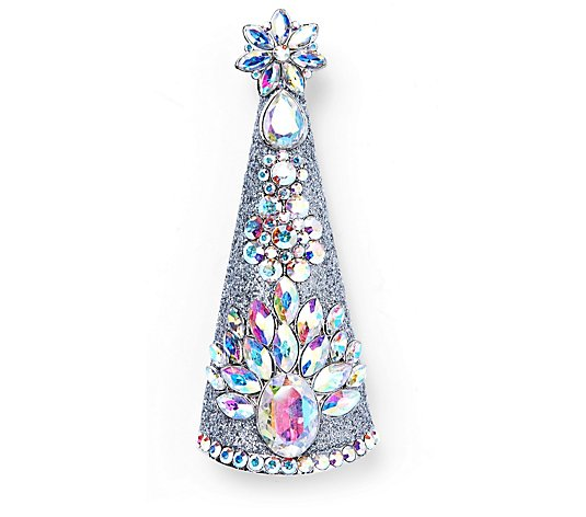 Butler & Wilson Crystal Christmas Tree Brooch