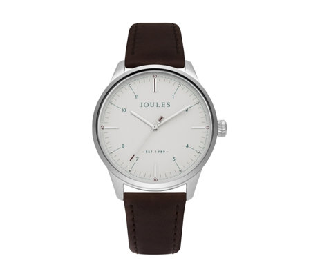 Joules Mens Aldous Leather Strap Watch