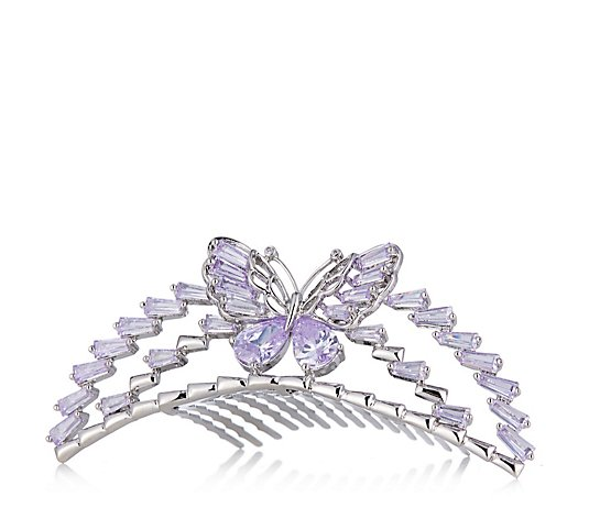 Butler & Wilson Crystal Butterfly Hair Comb