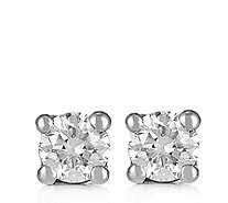 0.10ct Diamond Round Brilliant Cut Stud Earrings 9ct Gold - 338852