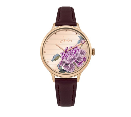 Joules Ladies Bloom Leather Strap Watch