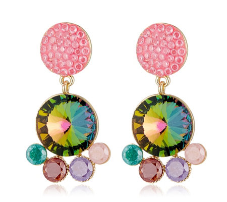 Butler & Wilson Round Drop Earrings