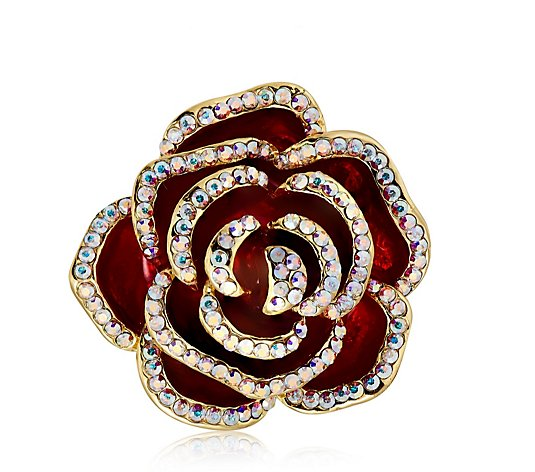 Butler & Wilson Crystal Rose Ring