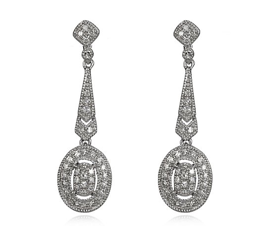 0.30ct Diamond Estate Collection Drop Earring 9ct Gold
