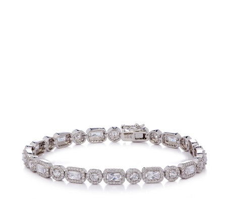 Michelle Mone for Diamonique 9.6ct tw 19cm Bracelet Sterling Silver