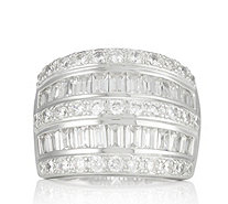 Diamonique 1.8ct tw Band Ring Sterling Silver - 318854