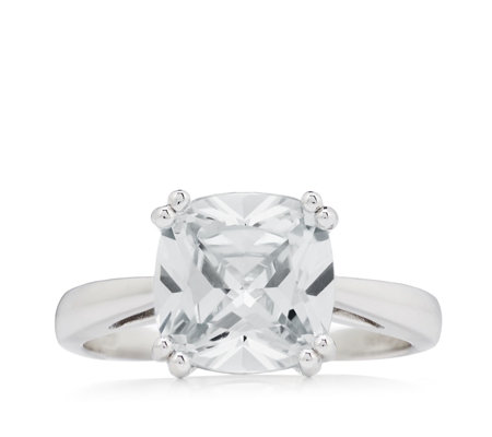 Diamonique 4.5ct tw Cushion Cut Ring Sterling Silver