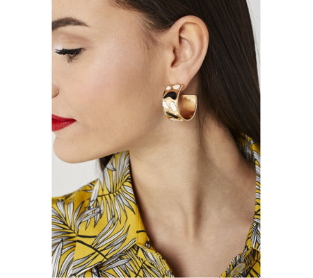 Ophia Graphic Hoop Earrings
