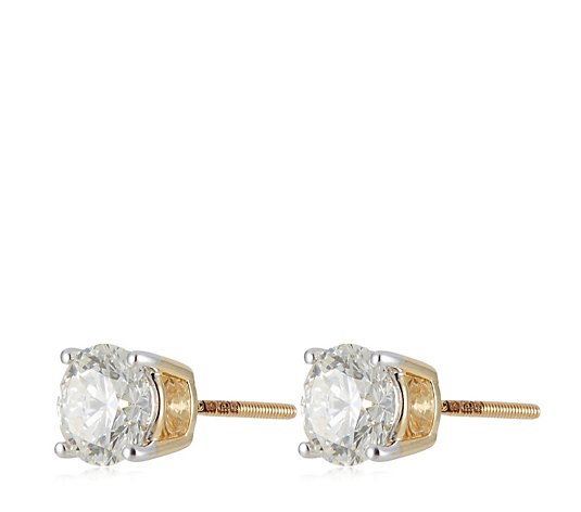 2.00ct H SI2 Fire Light Lab Grown Diamond Screw Back Stud Earrings 18ct Gold