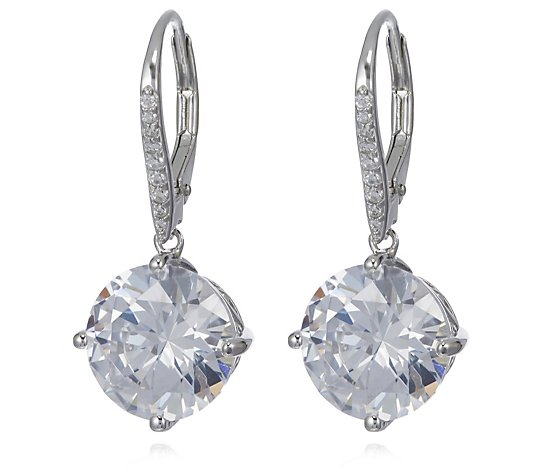Michelle Mone for Diamonique 10ct tw Simulated Gemstone Leverback Earrings